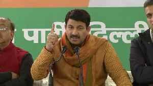 Delhi BJP chief Manoj Tiwari slams AAP on education [Video]