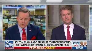 Rand Paul slams Chuck Schumer for comments on Trump kids [Video]