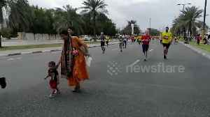 One-year-old boy participates as youngest runner at Dubai Marathon [Video]