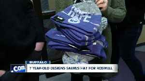 7-year-old's 'hat trick' with Sabres helps raise money for Roswell [Video]