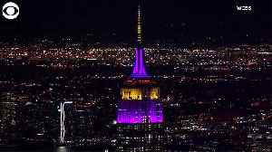 WEB EXTRA: Empire State Building Lit Up In Lakers Colors [Video]