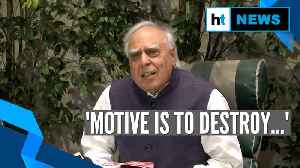 Watch: Kapil Sibal on reports of his link to PFI funds for CAA protests [Video]