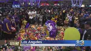 Lakers Fans Flock To Staples Center To Mourn Death of Kobe Bryant [Video]
