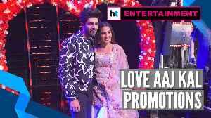 Sara Ali Khan, Kartik Aaryan promote Love Aaj Kal at Indian Idol 11 [Video]