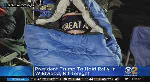 Crowds Camp Out Overnight For Trump Rally [Video]