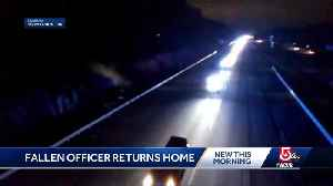 Fallen officer makes trip home to New England [Video]