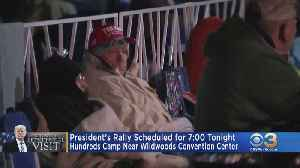 Hundreds Camp Near Wildwoods Convention Center For President Trump's Re-Election Rally [Video]