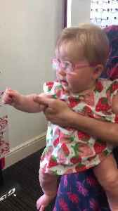 Cute Baby Gets Glasses [Video]