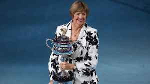 Margaret Court presented with trophy at Australian Open [Video]