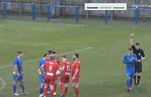 Gone in 12 seconds: Non-league player sees red after bizarre 'double foul' [Video]