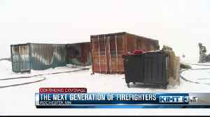 High school students take part in fire training [Video]