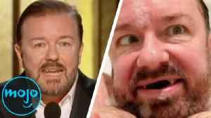 Top 10 Funniest Ricky Gervais Moments [Video]