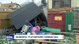 Memorial playground vandalized in Buffalo, how you can help them rebuild [Video]