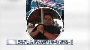 Iranian man planning to attend Michigan State PhD program detained at Detroit airport [Video]