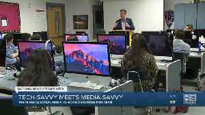 Teens using social media, checking sources for news [Video]