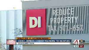Overland Park City Council members push to overturn company's tax break [Video]