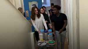 Kate serves breakfast to youngsters at social enterprise nursery [Video]