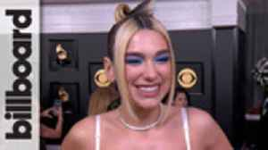 Dua Lipa Talks New Single 'Physical' & What Fans Can Expect From Her Album 'Future Nostalgia'   Grammys 2020 [Video]