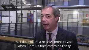 Farage will 'miss the drama' at EU Parliament [Video]