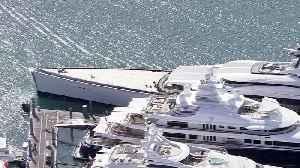 WEB EXTRA; Jerry Jones Mega-Yacht Docked In Miami [Video]