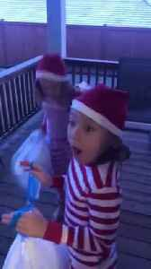 Little Girls Jump in Excitement After Getting Trampoline as Christmas Present [Video]