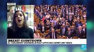 Brexit countdown: EU Parliament overwhelmingly approves departure terms [Video]