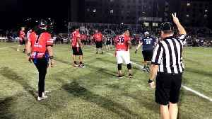 WEB EXTRA: Wounded Warriors Take On Former NFL Alumni In Flag Football Game [Video]