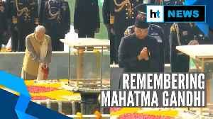 Mahatma Gandhi death anniversary: President, PM Modi & others pay tribute [Video]