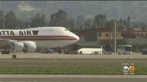 Plane From Wuhan, China Arrives At March Air Reserve Base [Video]