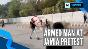 Man brandishes gun near Delhi's Jamia Millia Islamia University, detained [Video]