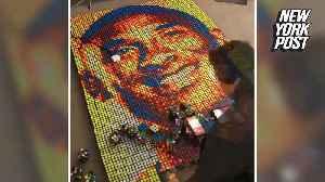 Kobe Bryant fan creates massive mosaic out of Rubik's cubes [Video]