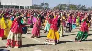 Thousands of women gather to perform record-setting 'swords dance' in west India [Video]
