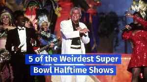 5 of the Weirdest Super Bowl Halftime Shows [Video]