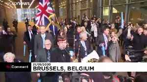 Bagpipes play as Brexit Party MEPs leave EU parliament for final time [Video]