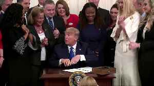 Trump signs executive order targeting human trafficking [Video]