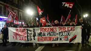 Hundreds protest in Madrid in support of general strike held in Basque Country [Video]