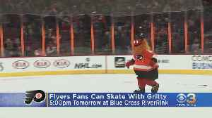Skate With Gritty Friday At Blue Cross RiverRink [Video]