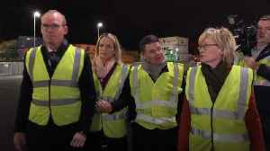 Irish ministers tour Dublin Port on Brexit day [Video]