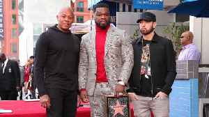 Eminem & Dr. Dre salute 50 Cent at Walk of Fame Ceremony [Video]