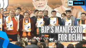 Delhi Election 2020: BJP releases manifesto; focus on air, water pollution [Video]