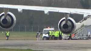 News video: Plane evacuating 83 British citizens from Wuhan lands in Oxfordshire