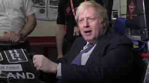 Boris Johnson visits Sunderland on Brexit day [Video]