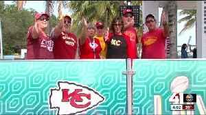 News video: Chiefs fans make downtown Miami their temporary kingdom ahead of Super Bowl