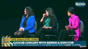 News video: Rashida Tlaib boos Hillary Clinton at Bernie Sanders event in Iowa