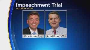 Colorado Senators Vote On Impeachment Trial Witnesses [Video]