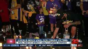 News video: Locals hold vigil for Kobe Bryant and crash victims