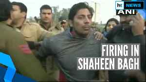 News video: Watch: Man opens fire in Shaheen Bagh, taken into custody by police