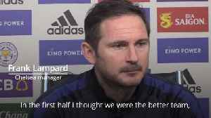 Frank Lampard: It was a pretty even game. [Video]