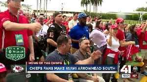 News video: Chiefs fans make Miami Arrowhead south