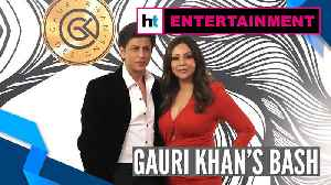 Watch: Shah Rukh Khan, Ananya Panday, Karan Johar attend Gauri Khan's bash [Video]